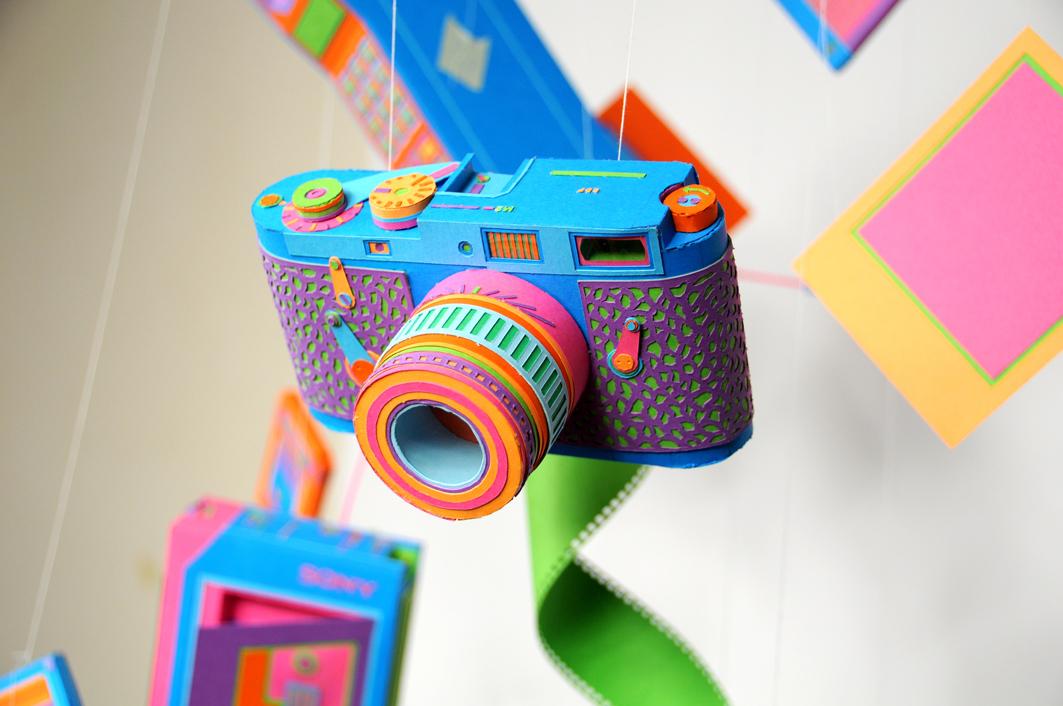 Аппликация фотоаппарат из бумаги для детей